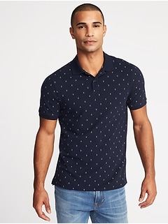 Printed Moisture-Wicking Pro Polo for Men