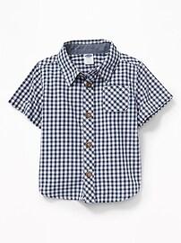 Poplin Gingham Shirt for Baby