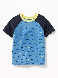 T-shirt à imprimé à manches raglan pour tout-petit