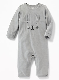 Bunny-Graphic One-Piece for Baby