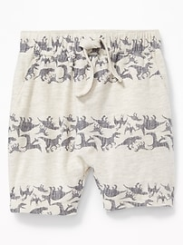 Printed Slub-Knit Shorts for Toddler Boys