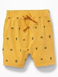 Short en tricot grège à imprimé pour tout-petit garçon