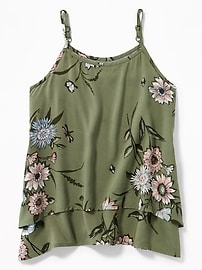 Tiered Floral-Print Cami for Girls