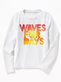 Maillot anti-UV « Waves For Days » pour fille