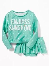 Ensemble jupe de baignade et maillot anti-UV «Endless Sunshine» pour toute-petite fille
