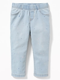 Skinny Paint-Splatter Jeggings for Toddler Girls