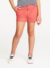 Stretch Chino Shorts for Girls
