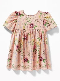 Floral-Print Fit & Flare Dress for Baby