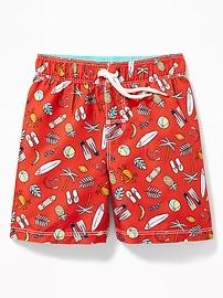 Printed Swim Trunks for Toddler Boys