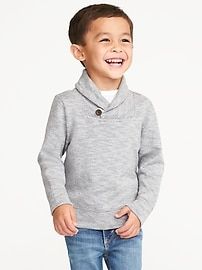 Marled Shawl-Collar Pullover for Toddler Boys