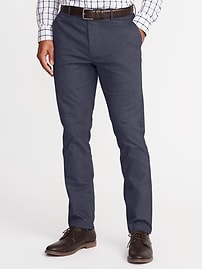 Pantalon exclusif Built-In Flex sans repassage, coupe étroite pour homme