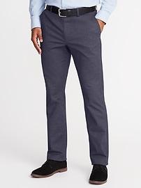 Pantalon exclusif Built-In Flex sans repassage, coupe droite pour homme