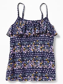 Floral Ruffle-Yoke Cami for Girls