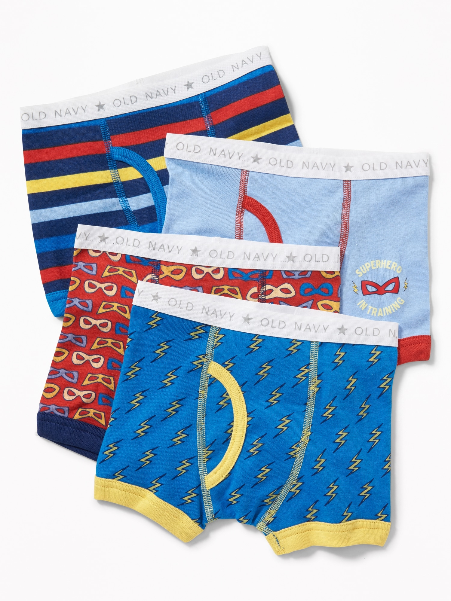 58f3cc17b45 Printed Boxer-Briefs 4-Pack for Toddler Boys