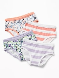 Patterned Underwear 4-Pack for Toddler Girls