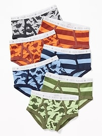 Patterned Underwear Briefs 7-Pack for Toddler Boys