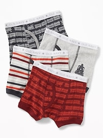 Printed Boxer-Briefs 4-Pack for Toddler Boys