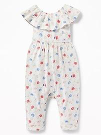 Combinaison à épaules dénudées à volant pour bébé