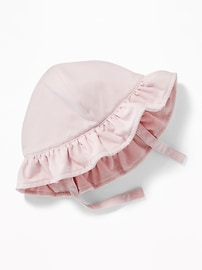 Ruffled-Brim Swim Hat for Baby