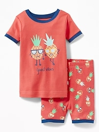 """Good Vibes"" Pineapple Sleep Set for Toddler & Baby"