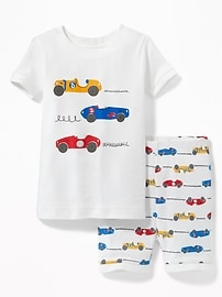 Racecar Graphic Sleep Set for Toddler & Baby