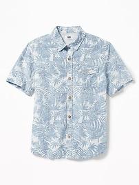 Linen-Blend Shirt for Boys