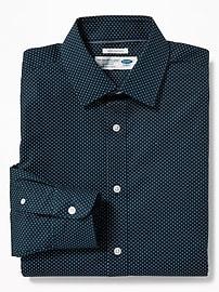 Chemise extensible sans repassage à coupe standard pour homme