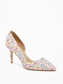 Printed D'Orsay Pumps for Women