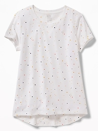 Softest Crew-Neck Printed Tee for Girls