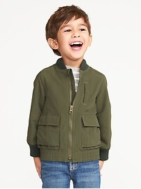 Nylon Utility Bomber Jacket for Toddler Boys