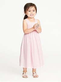 Seersucker Maxi Sundress for Toddler Girls