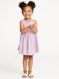 Crepe Cutout-Back Fit & Flare Dress for Toddler Girls