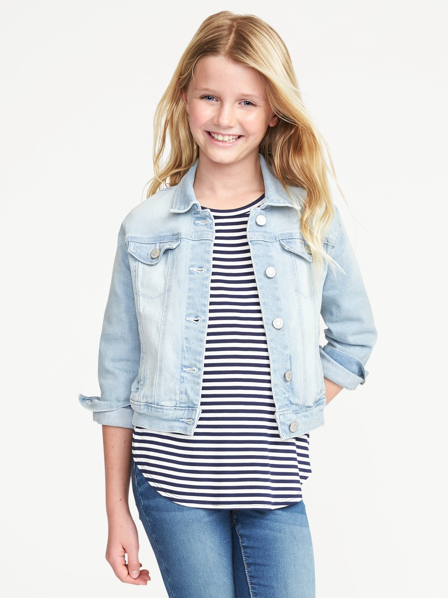 Shoptagr Light Wash Denim Jacket For Girls By Old Navy