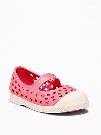 Perforated Mary-Jane Slip-Ons for Toddler Girls
