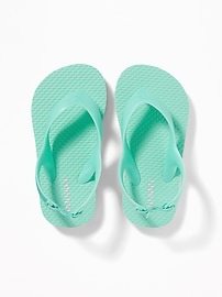 Pastel-Color Flip-Flops for Toddler Girls