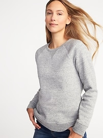Relaxed French Terry Sweatshirt for Women