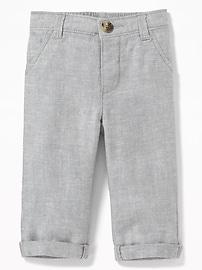 Pantalon habillé en mélange de lin pour bébé