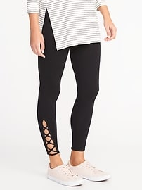 Lace-Up Ankle Leggings for Women
