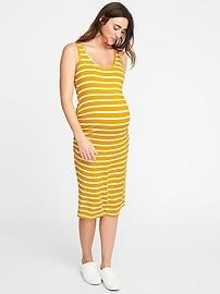 Maternity Sleeveless Bodycon Midi Dress
