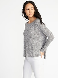 Luxe Soft-Spun Raglan-Sleeve Top for Women