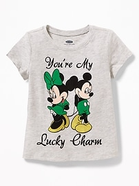 "Disney&#169 Mickey & Minnie Mouse ""You're My Lucky Charm Tee"" for Toddler Girls"