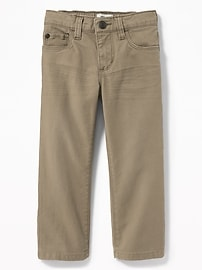 Straight Built-In Flex Twill Pants for Toddler Boys
