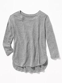 Chandail en tricot brossé douillet pour fille