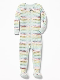 Rainbow Polka-Dot Footed Sleeper for Toddler & Baby