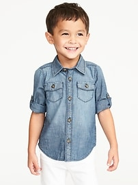 Chambray Shirt for Toddler Boys