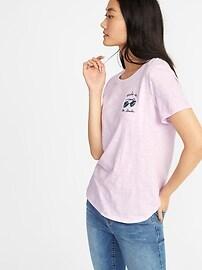T-shirt EveryWear à imprimé en tricot grège pour femme