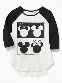 Disney&#169 Mickey Mouse Raglan-Sleeve Tee for Girls
