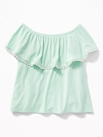 Ruffled Off-the-Shoulder Top for Girls