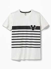 Disney&#169 Mickey Mouse Striped Tee for Boys