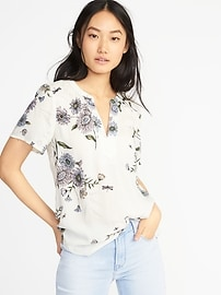 Lightweight Floral-Printed Top for Women